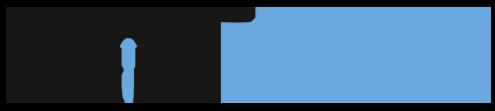 logo drone noir et bleu horizontal