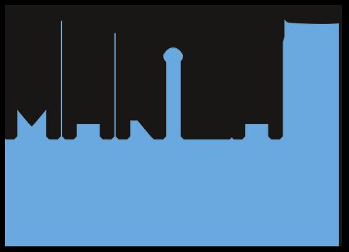 logo drones noir et bleu