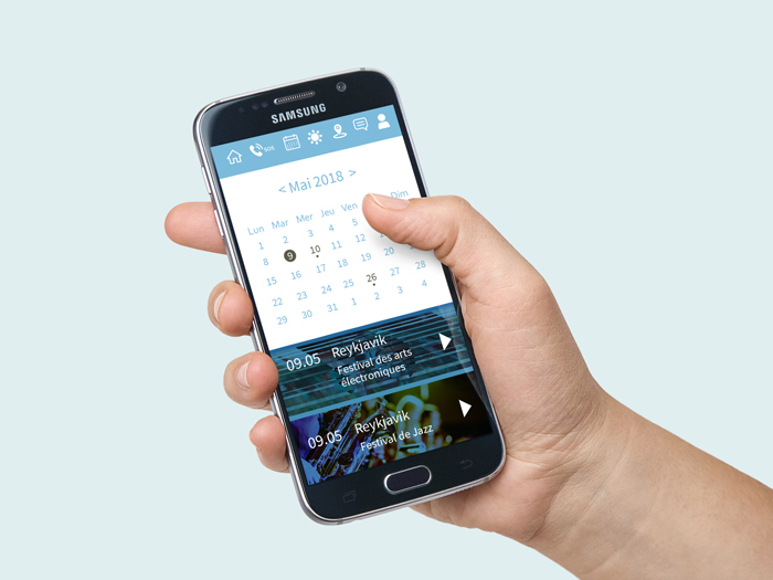 smartphone fond d'agenda