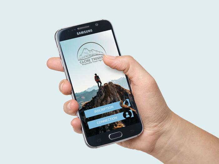 accueil application mobile sur smartphone