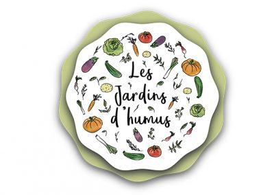 Les jardins d'humus – Identité visuelle