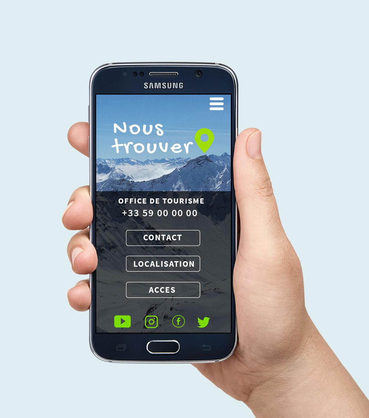 smartphone fond montagne