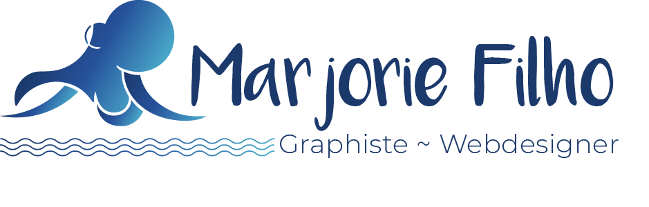 logo avec pieuvre bleue