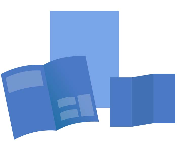 illustration papiers bleus