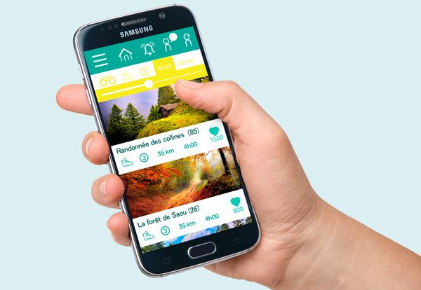 smartphone fond avec photographies nature