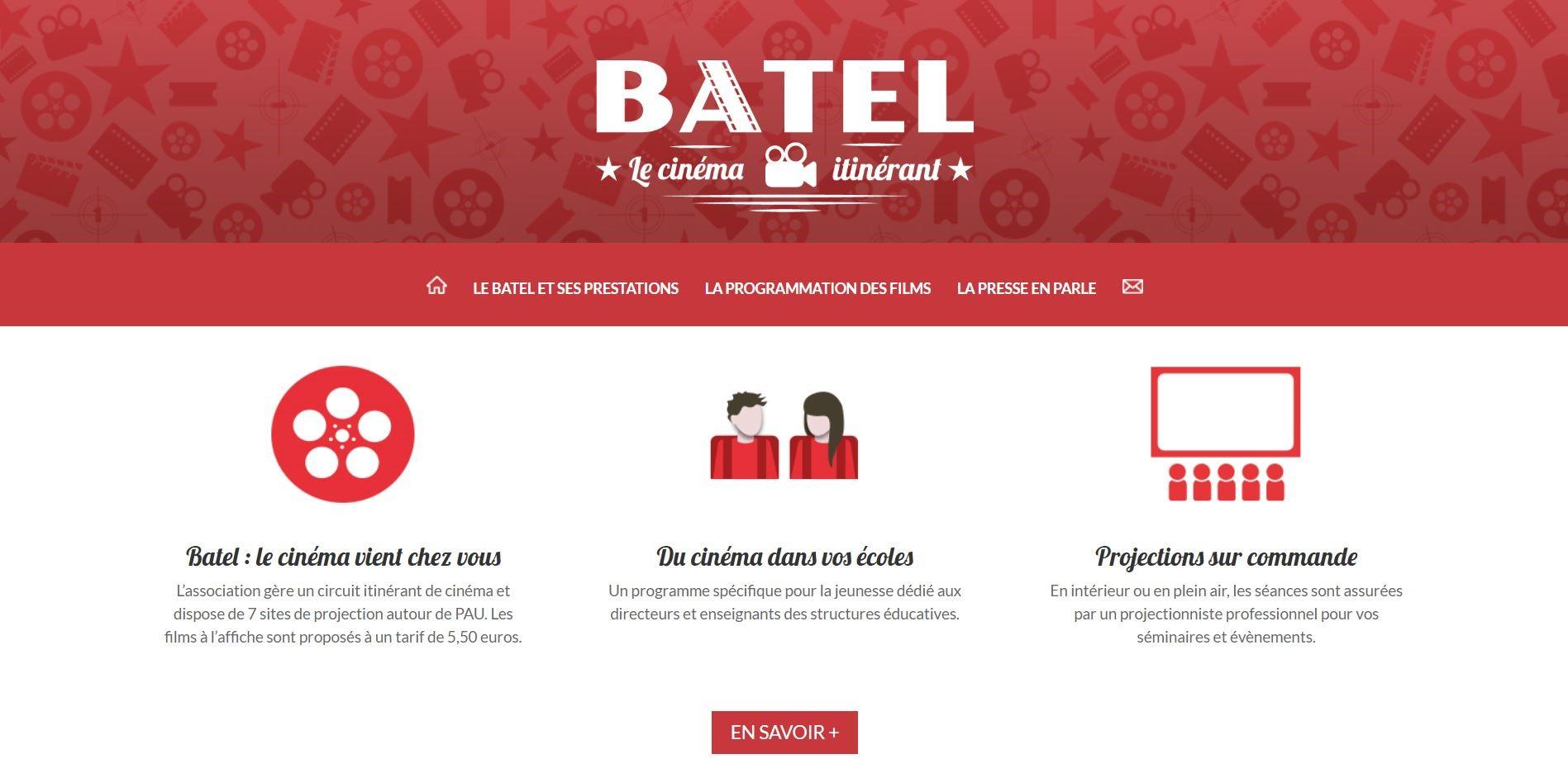 homepage web fond blanc en-tête rouge