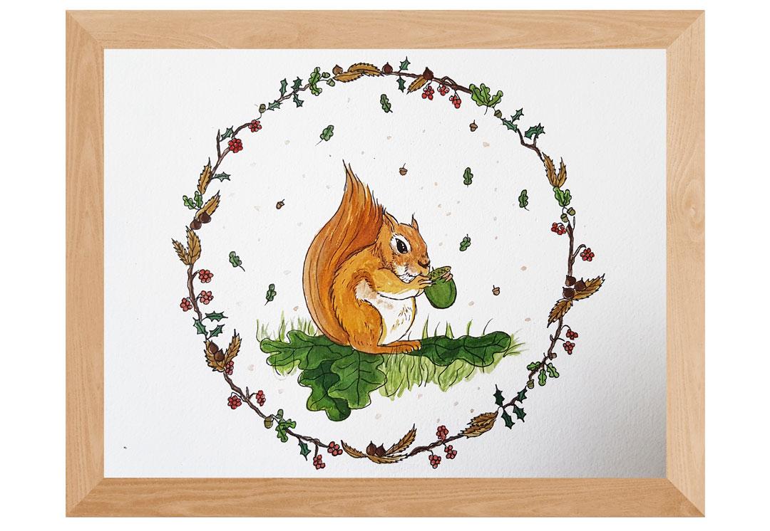 dessin d'écureuil