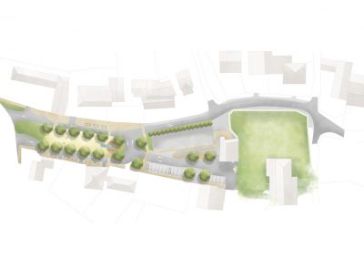 plan paysager place de ville
