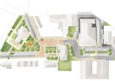 plan paysager de centre bourg