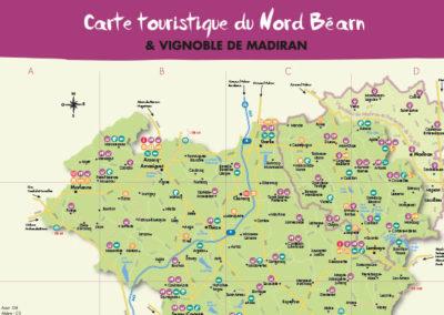 Carte touristique du Nord Béarn