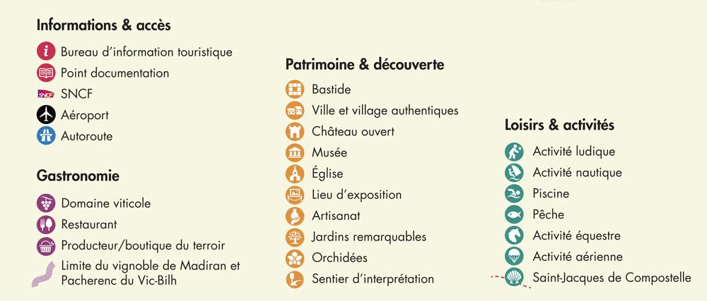 pictogrammes touristiques